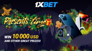 وقت الهدايا في 1xBet: احصل على 10000 دولار ومئات من الجوائز والهدايا الرائعة الأخرى!